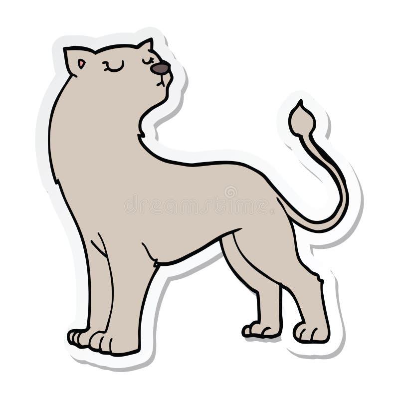 动画片雌狮的贴纸 皇族释放例证