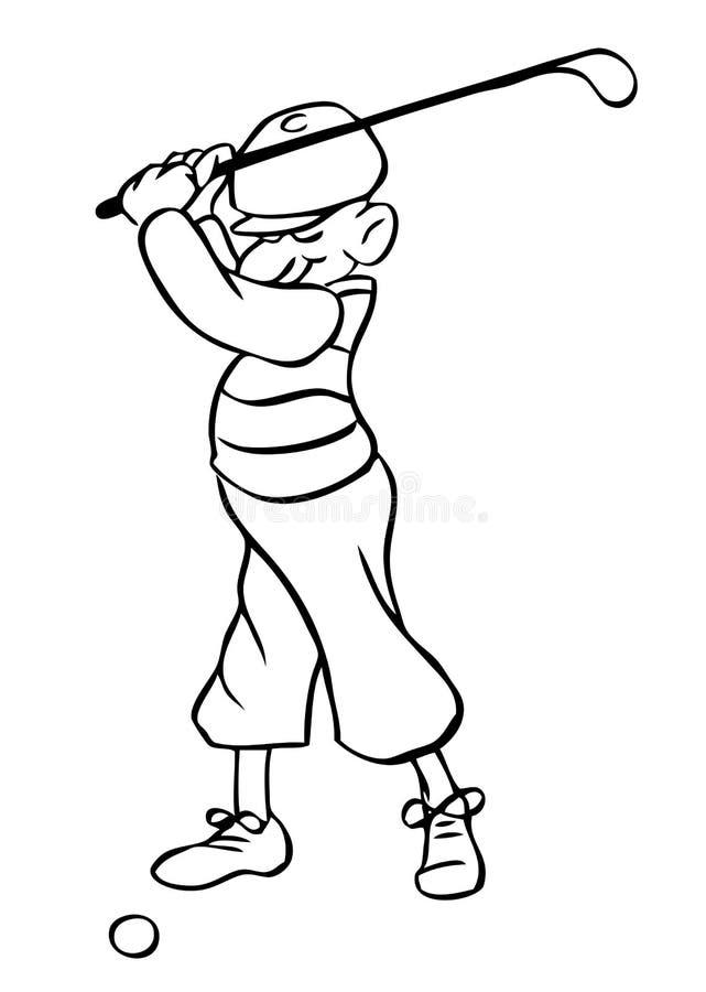 动画片高尔夫球运动员向量 向量例证
