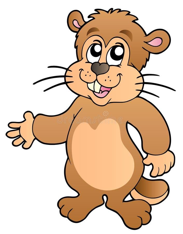 动画片groundhog 皇族释放例证