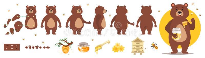 动画的熊字符 免版税库存照片
