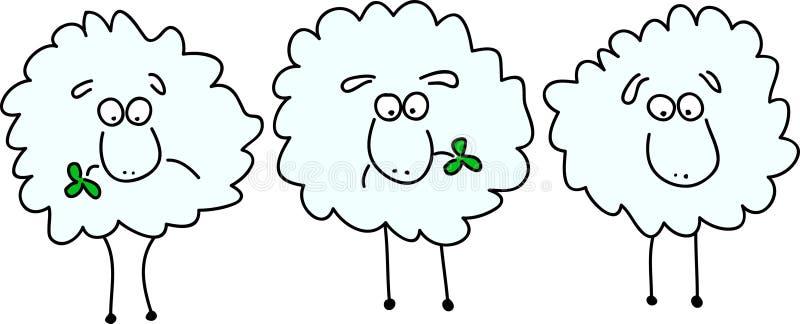 动画绵羊 向量例证