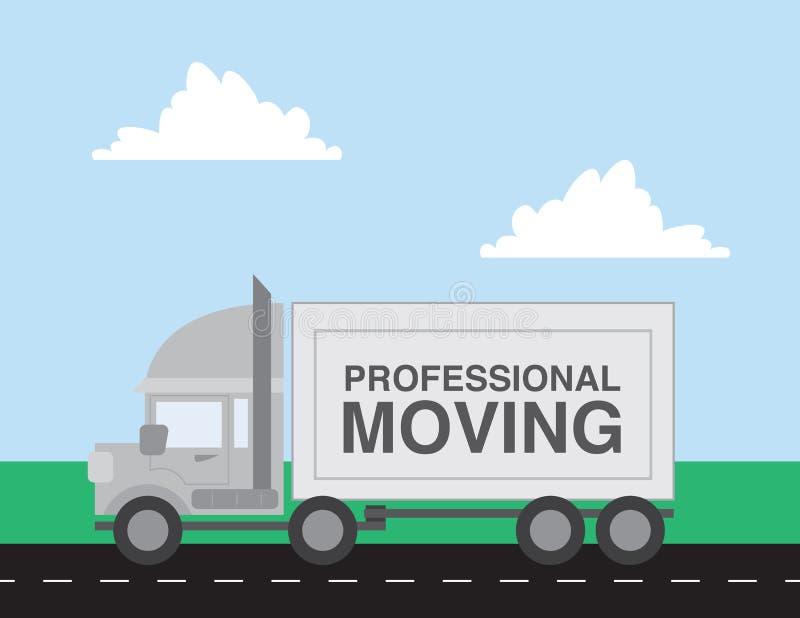 移动的卡车 库存例证