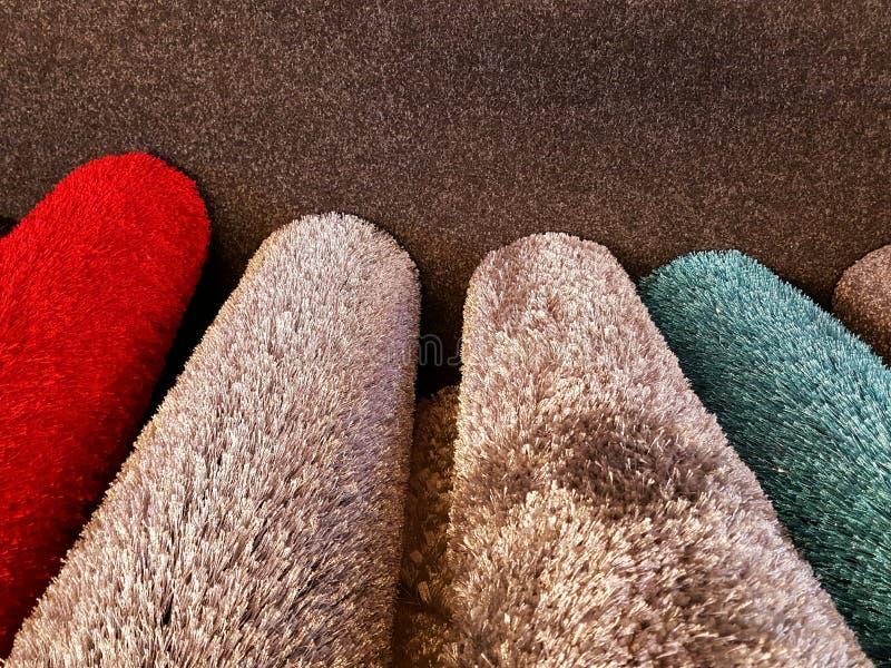 滚动的地毯样品 免版税库存图片