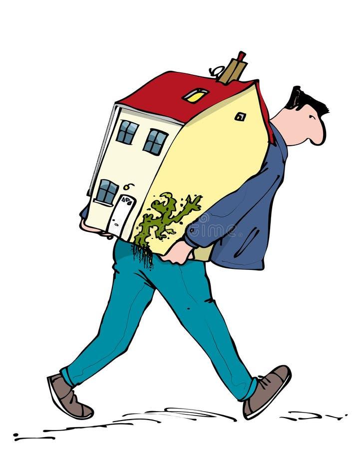 移动的家 库存例证