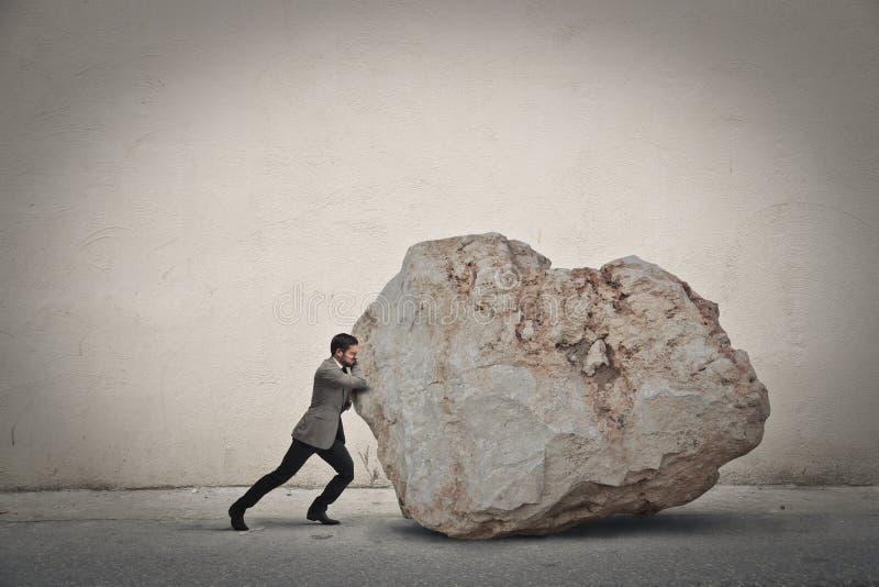 移动的岩石 库存照片