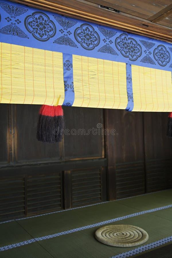 滚动的里德屏幕在明治神宫 免版税图库摄影