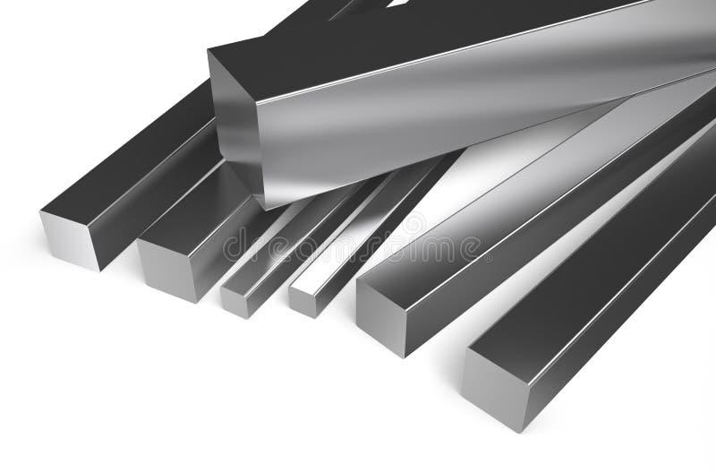 滚动的金属,方形的股票2 向量例证
