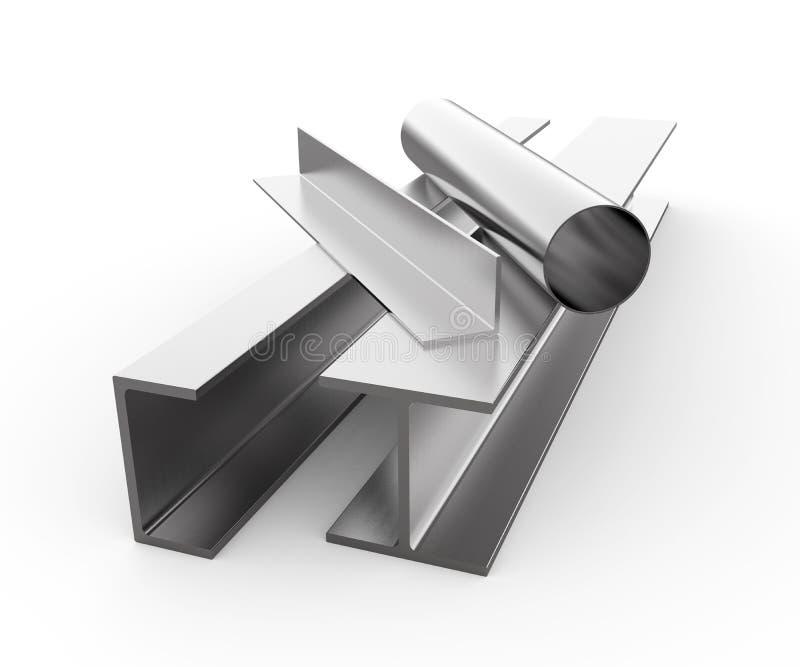 滚动的金属 库存例证