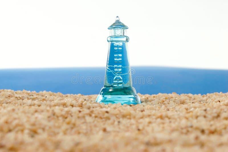 动荡灯塔的海运 免版税库存图片