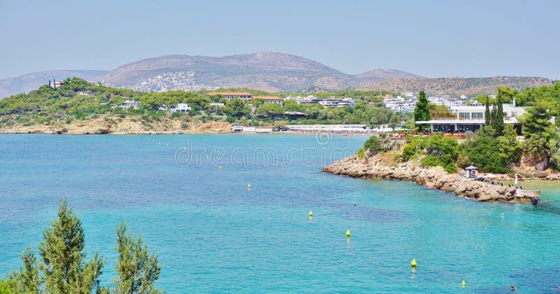 动起来宫殿旅馆复合体(Westin和Arion)在武利亚格迈尼,在雅典附近,希腊 免版税库存照片