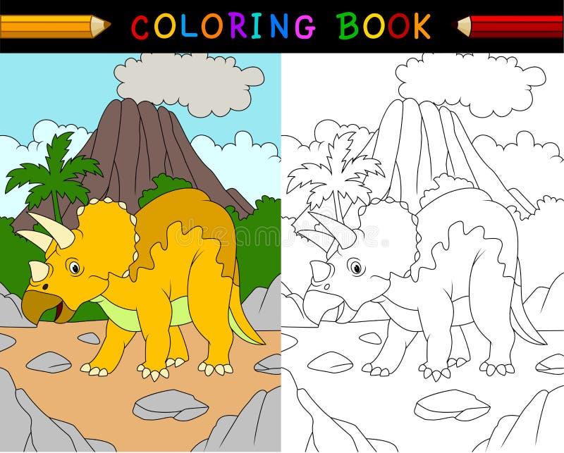 动画片三角恐龙彩图 向量例证