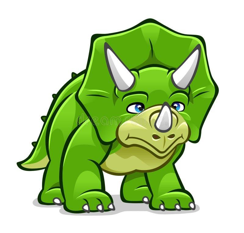 动画片三角恐龙 库存例证