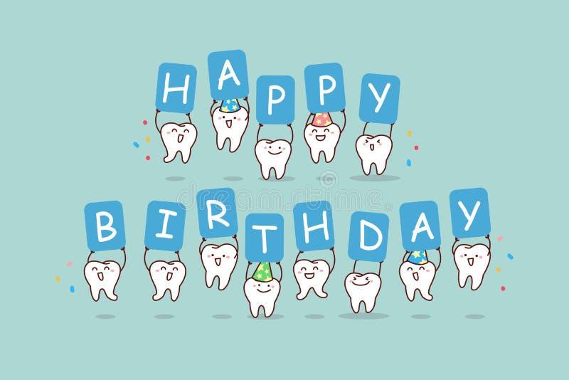 动画片与广告牌的牙跃迁 向量例证