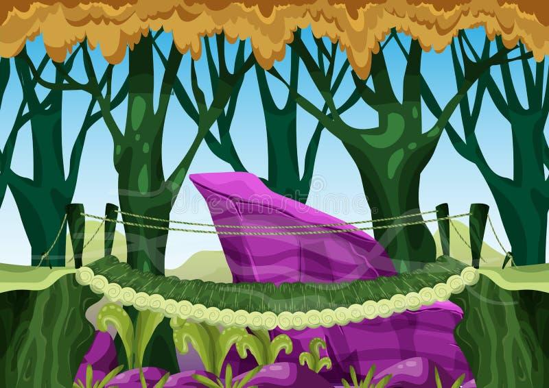 动画片与被分离的层数的传染媒介风景比赛和动画的 向量例证