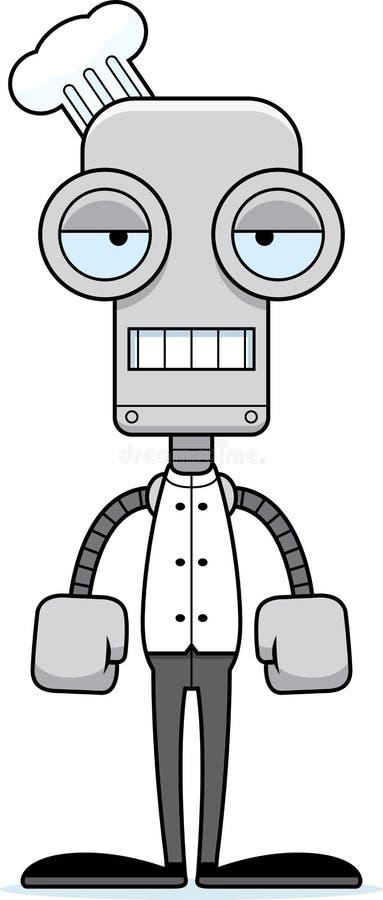 动画片乏味厨师机器人 向量例证