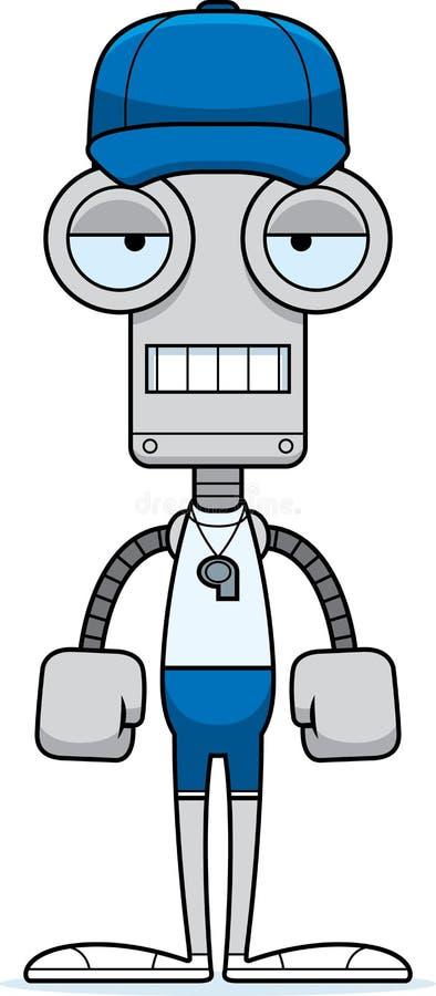 动画片乏味教练机器人 库存例证