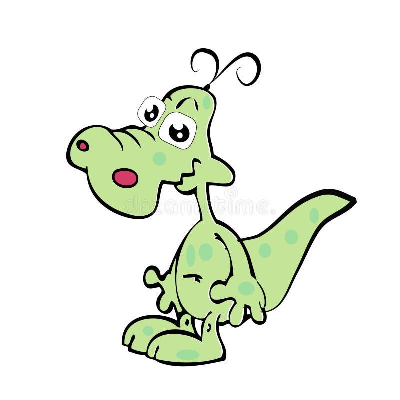 动画片乐趣鳄鱼 向量例证