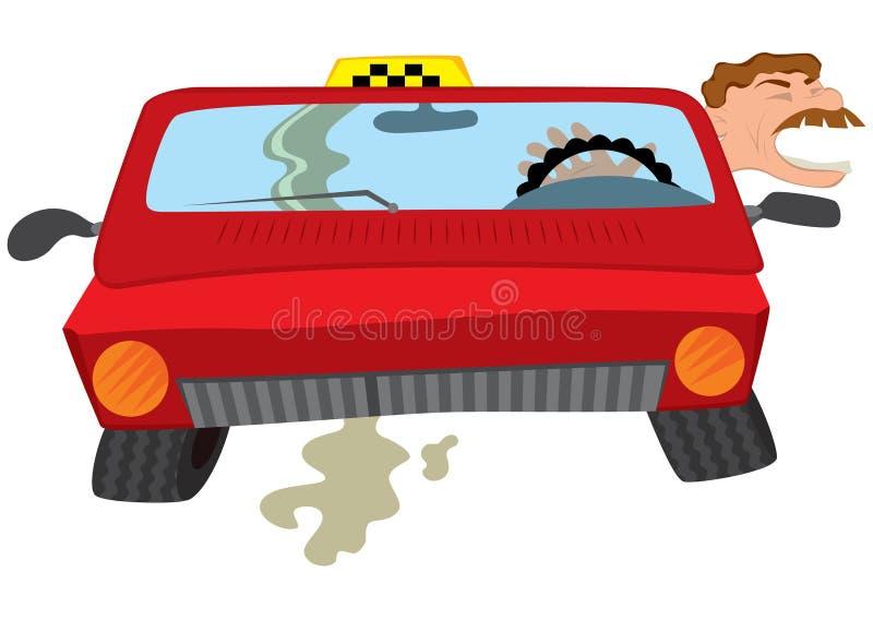 动画片人出租汽车司机提取乳脂 向量例证