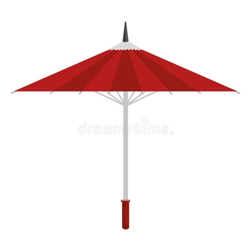 动画片伞传统日本象 库存例证
