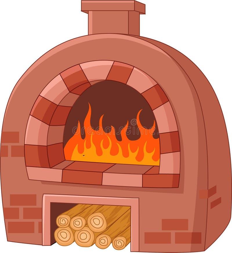 动画片传统烤箱 库存例证