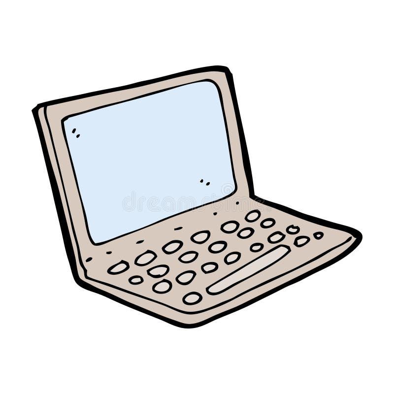 动画片便携式计算机 向量例证
