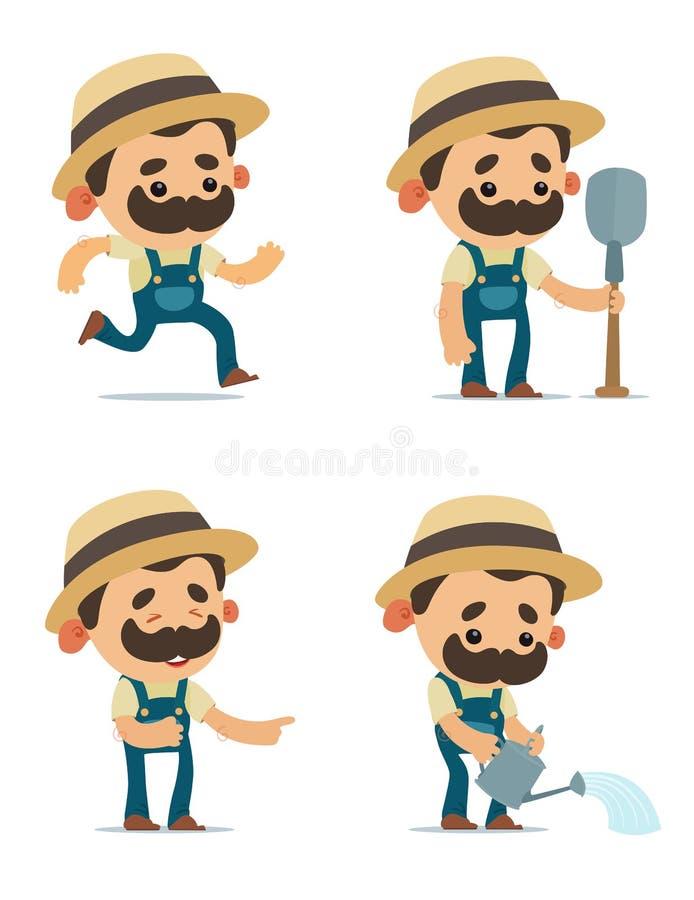 农夫卡通画_套逗人喜爱的动画片农夫