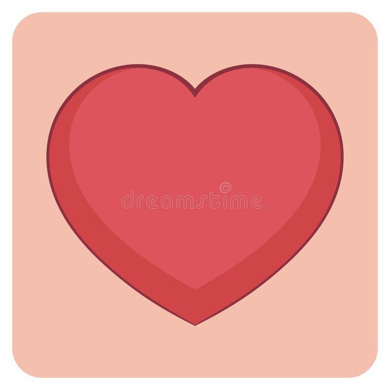 动画片分层了堆积传染媒介例证-明亮的色的爱心脏 与等高的可笑的样式 您的图表元素 库存例证