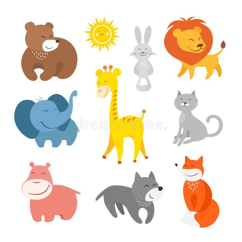 动画片动物动物园 皇族释放例证