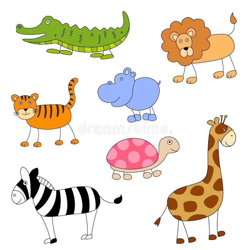 动画片动物 向量例证