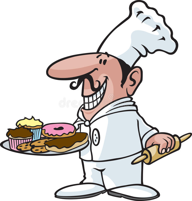 厨师 皇族释放例证