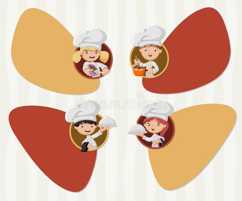 动画片厨师烹调 库存例证