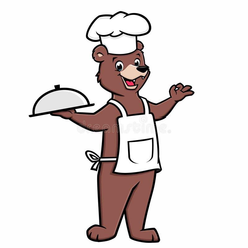 动画片厨师熊 库存例证