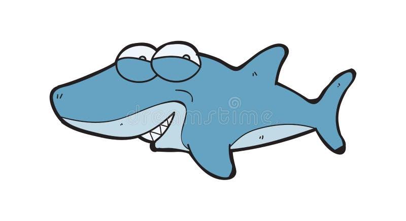 动画片可爱的鲨鱼 皇族释放例证