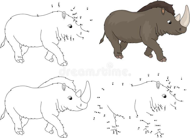 动画片史前犀牛 加点gam的彩图和小点 皇族释放例证