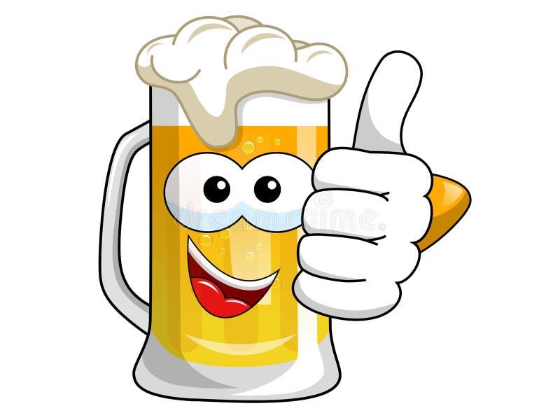 动画片啤酒杯赞许 皇族释放例证