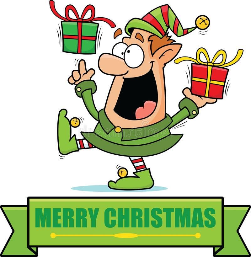 动画片圣诞节矮子横幅 皇族释放例证
