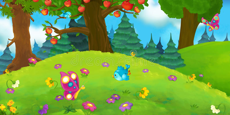 Download 动画片场面 库存例证. 插画 包括有 beautifuler, 五颜六色, 艺术, 寓言, 颜色, 敞篷 - 59101114
