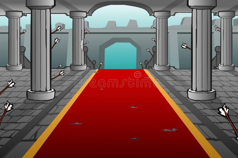 动画片城堡背景 免版税库存照片