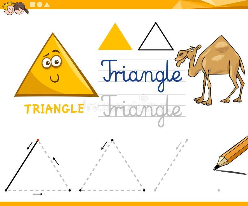 动画片基本的几何形状 库存例证