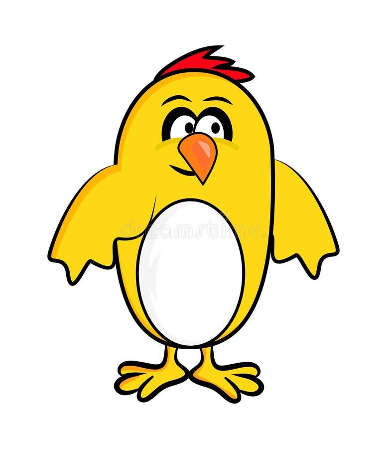 动画片复活节鸡传染媒介标志象设计 皇族释放例证