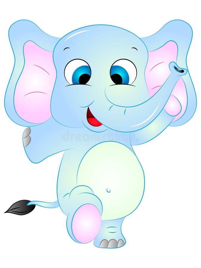 动画片大象跳舞 免版税库存照片
