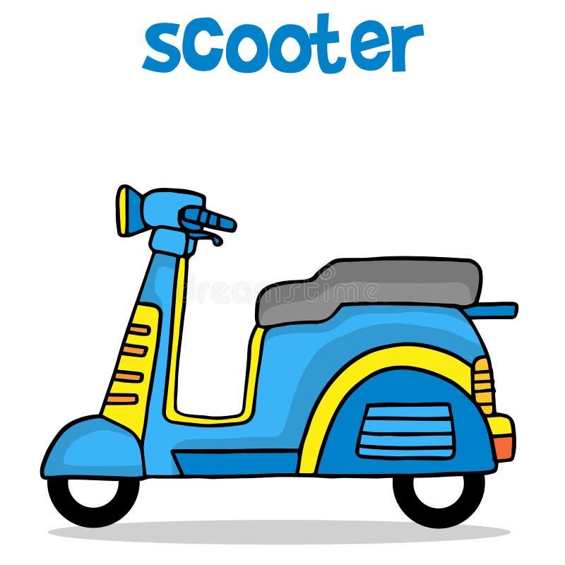 动画片孩子的设计滑行车 皇族释放例证