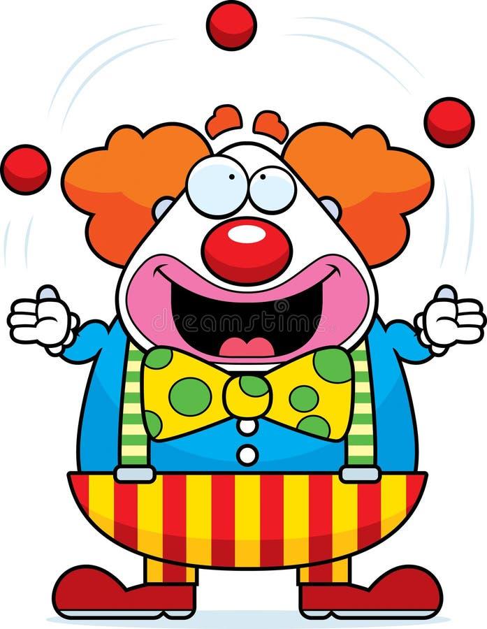 动画片小丑玩杂耍 皇族释放例证