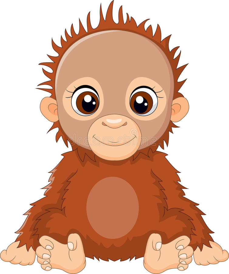 动画片小猩猩开会 向量例证