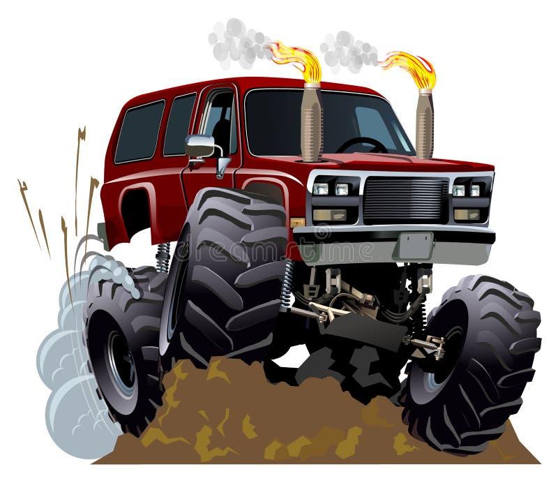 动画片巨型卡车 向量例证