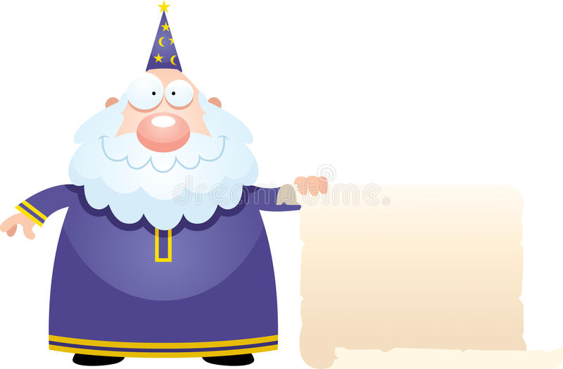 动画片巫术师标志 皇族释放例证