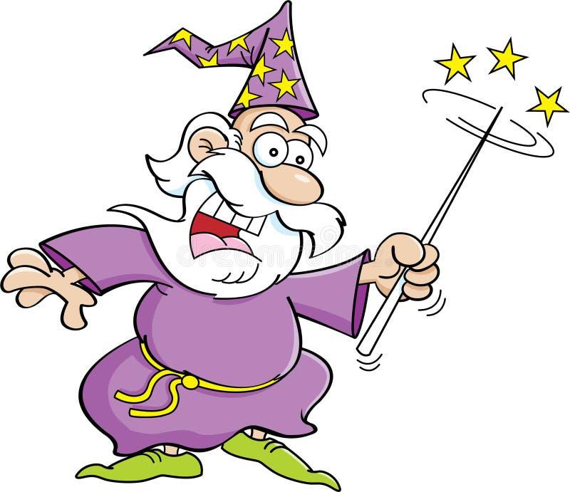 动画片巫术师 向量例证