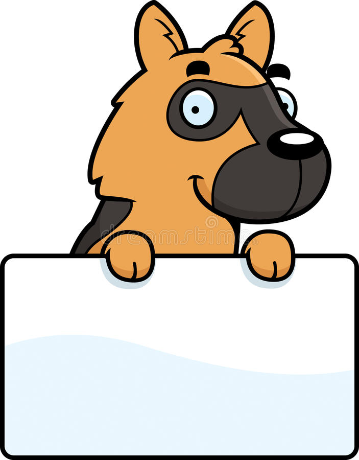 动画片德国牧羊犬标志 库存例证