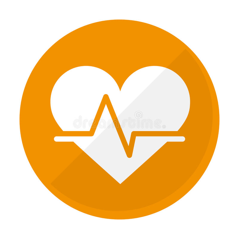 动画片心脏心电图象图象. 心脏病学, 脉冲.