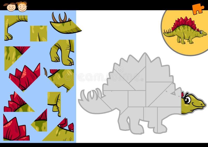 动画片恐龙七巧板比赛 向量例证